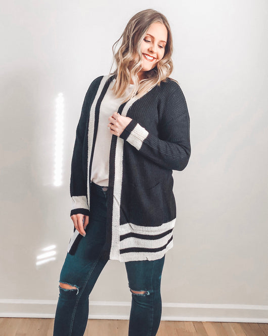 Carrie Open Striped Cardigan