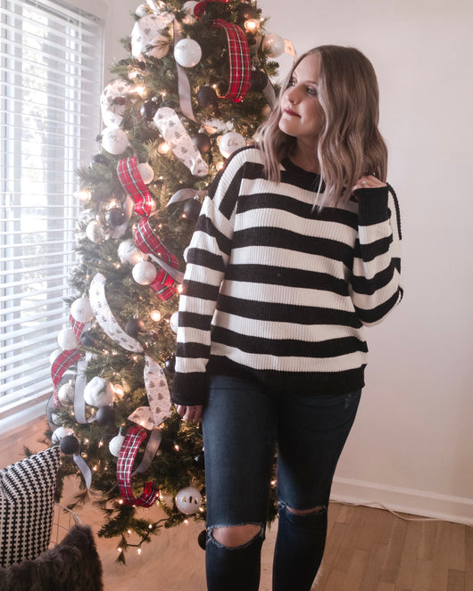 Gemma Chenille Striped Sweater