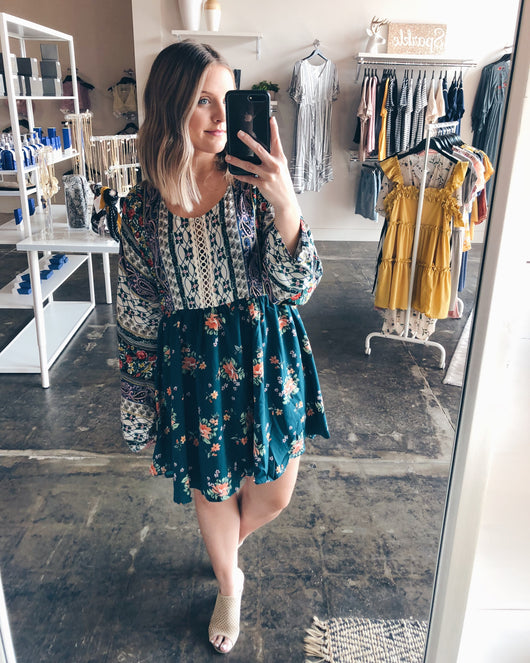 Vanessa Multi-Floral Print Dress