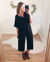 Franks Wide Leg Cropped Jumpsuit