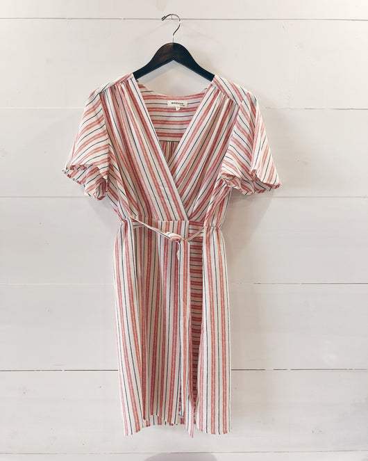 Gemma Wrap Stripe Dress