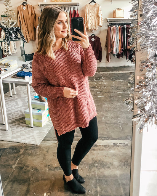 Ember Chunky Chenille Sweater