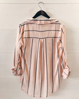 Paisley Striped Collared Blouse