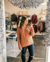 Jenni Knit Mock Neck Sweater