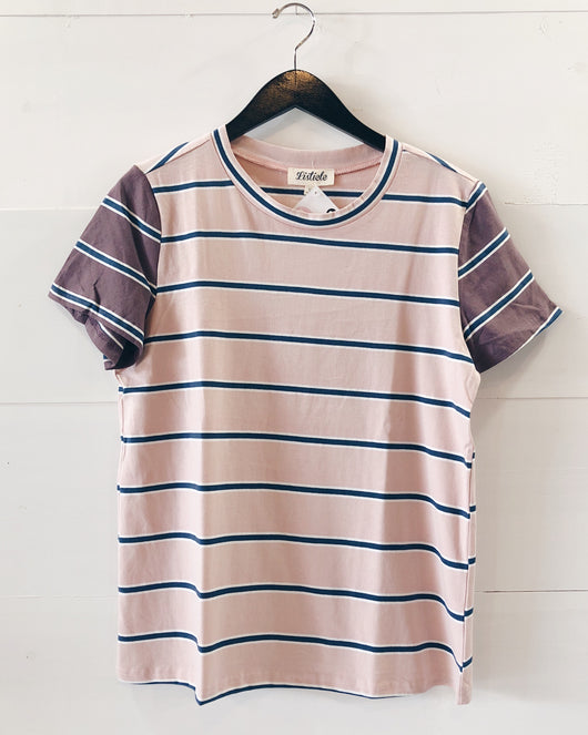 Heidi Striped Contrast Tee