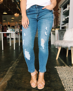 Emily Mid-Rise Medium Wash Denim
