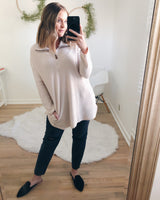 River Thermal Knit Pullover - Beige