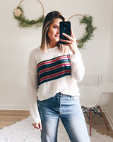 Kendall Rainbow Stripe Waffle Top