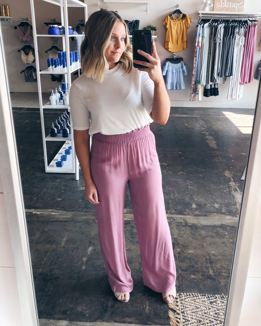 Naomi Banded Wide Leg Pants