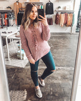 Liz V-Neck Laced Sweater
