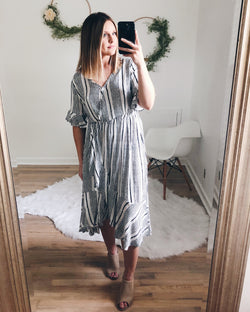 Frankie Ruffle Midi Dress