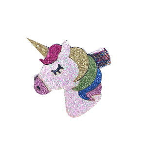 Rainbow Unicorn Clip