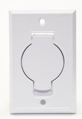 Faceplate Metal - White