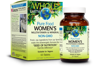 Whole Earth & Sea Pure Food Women's Multivitamin Multimineral (NON-GMO)