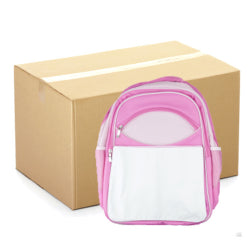 Extra Large 'Youth' Rucksack - CARTON (10 pcs) - with Panel - Pink