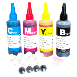 Brother Compatible Dye Ink Refill Set 100ml With Needle