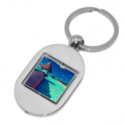 Keyring - Sublimation Metal Keyring - Rotating Square