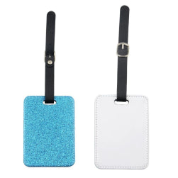 Luggage Tag - PU Glitter - Blue