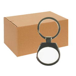 FULL CARTON - 240 x Horizontal Oval Blank Sublimation Metal Keyrings
