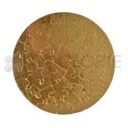 Jigsaw Puzzles - Cardboard - Round - Gold