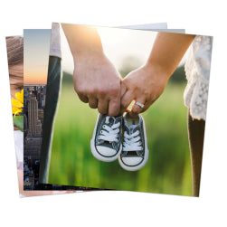 "Pack of 10 x Ultra HD 1.15mm Thick Sublimation Aluminium Sheets - 4"" x 4"" (10cm x 10cm)"