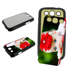 Black Samsung Galaxy S3 Blank Sublimation Phone Case Plastic