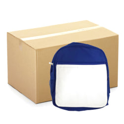 Backpacks - CARTON (20 pcs) - Large School Bag with Panel - Blue