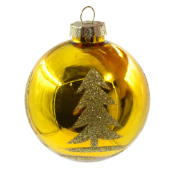 Ornaments - Ceramic - Christmas Bauble - Golden Tree Design