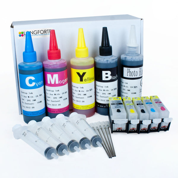 Canon Compatible Starter set C1 Cartridge Number: pgi520,cli521 (5 Colour)