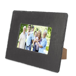 Black Slate - Engravable - Rectangle Photo Frame - 24cm x 19cm