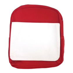 Bags - Backpacks - Large School Bag with Panel - Red