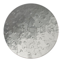 Jigsaw Puzzles - Cardboard - Round - Silver