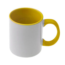 Mugs - 11oz - Inner and Handle Coloured - Yellow