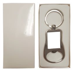 Keyring - Metal Keyring - Bottle Opener - Rectangle
