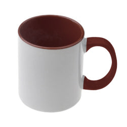 Mugs - 11oz - Inner and Handle Coloured - Maroon