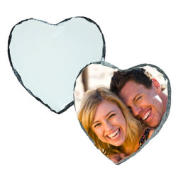 Photo Slate - Glossy Finish - Small Heart - 15cm x 15cm