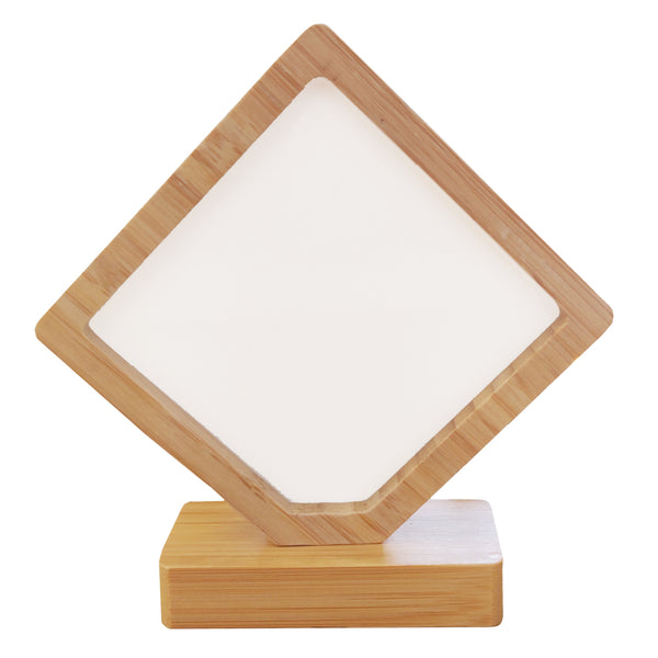 Photo Frame - Bamboo/ MDF - Revolving Magnetic Frame - Diamond