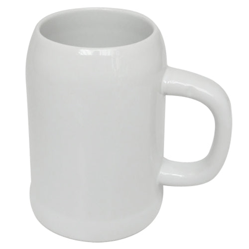 Mugs - Ceramic - 0.5L Beer Mug - White