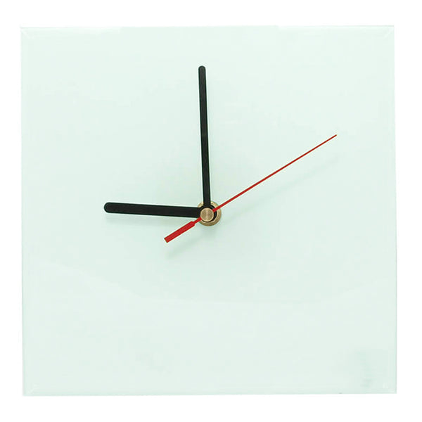 Clock - Glass - SQUARE - 20cm Wall Clock