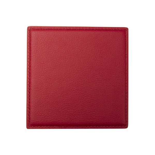 Engravables - LEATHER - Coaster - SQUARE- 10cm - Red