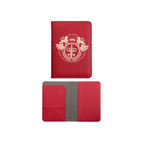 Engravables - LEATHER - Passport Holder - Red