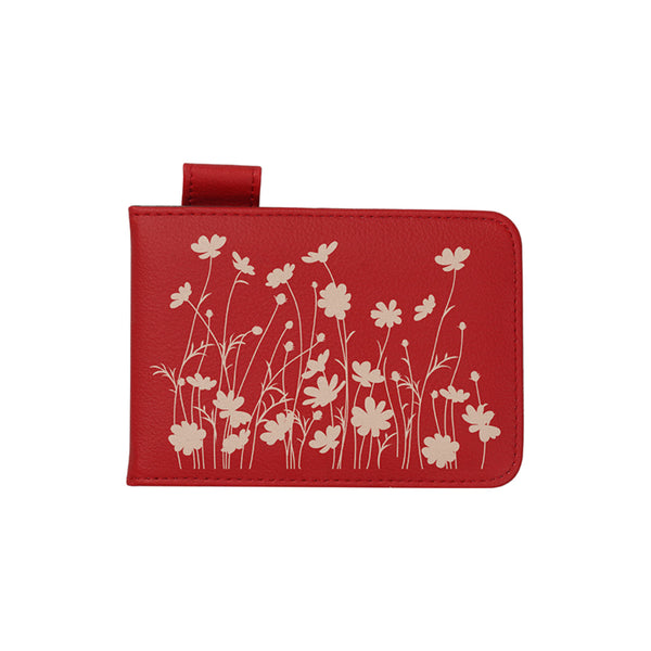 Engravables - LEATHER - SMALL Notebook - 9cm x 13cm - Red
