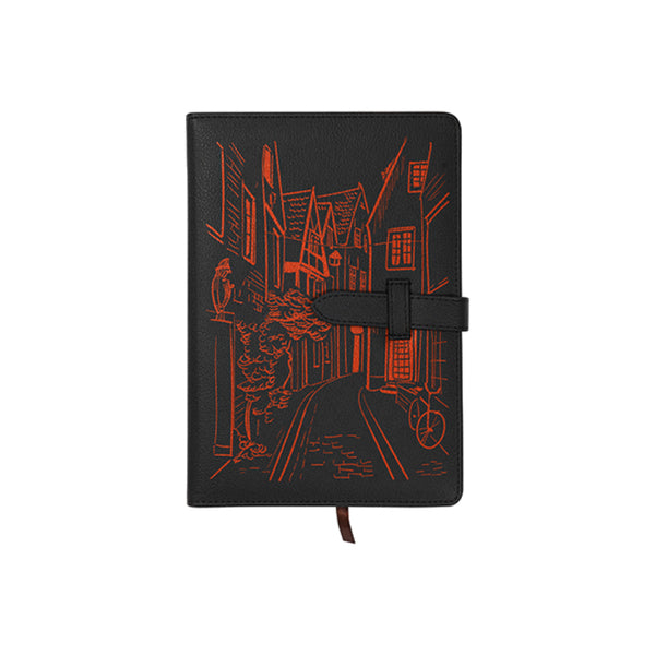 Engravables - LEATHER - A5 Notebook - Black