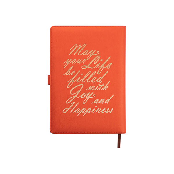 Engravables - LEATHER - A5 Notebook - Orange