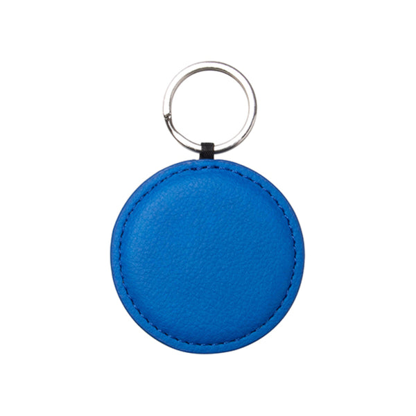 Engravables - LEATHER - Keyring - ROUND - 5cm - Navy