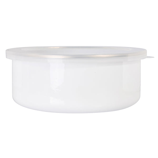 Bowls - Enamel - 20oz (600ml) Bowl With Lid