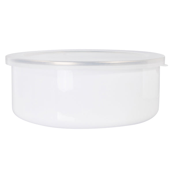 Bowls - Enamel - 30oz (900ml) Bowl With Lid