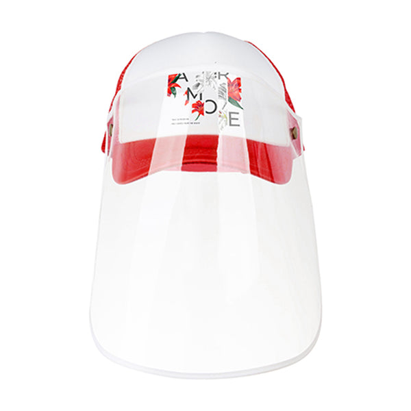 Apparel - Cap with Face Shield - ADULT - Red
