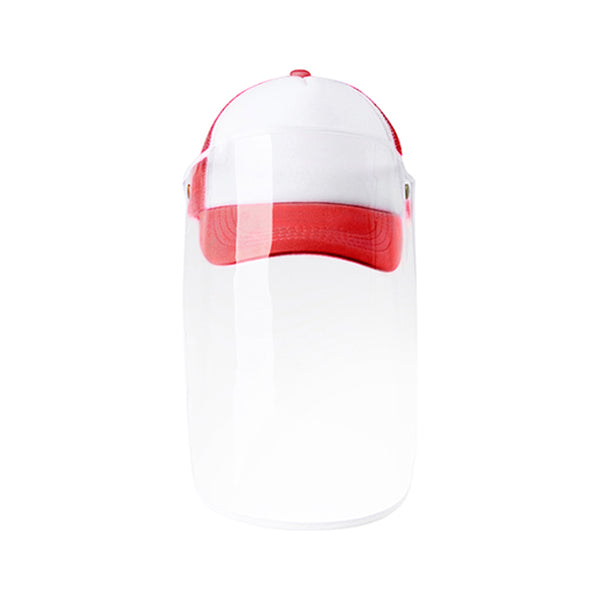 Apparel - Cap with Face Shield - CHILDRENS - Red