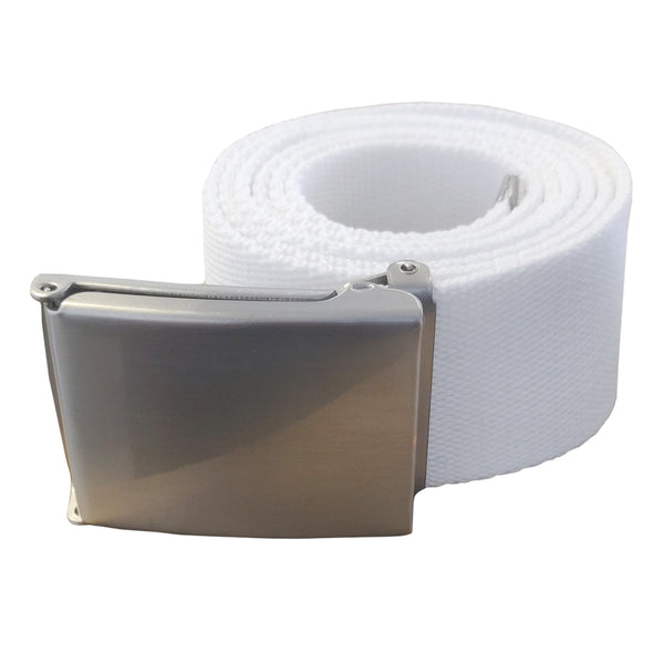Apparel - Fashion White Belt with SILVER Buckle